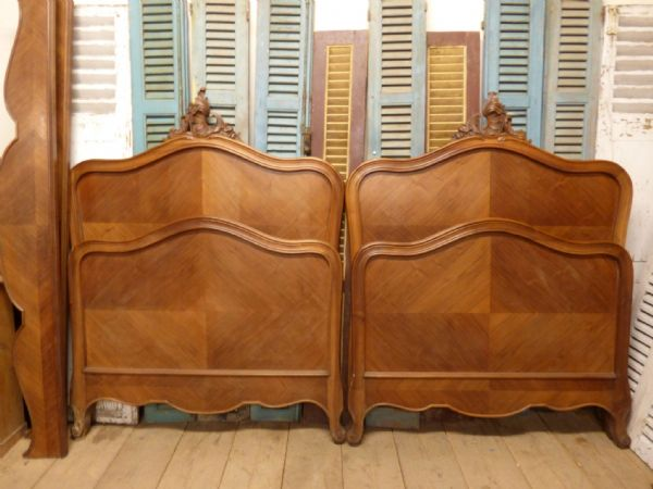 Antique French Single Twin Beds - ha86/87 - ONE LEFT